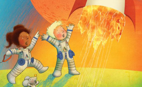 Bibliotheek viert Kinderboekenweek met vol programma - omslag prentenboek André het Astronautje